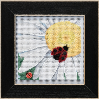 click here to view larger image of Ladybug on Daisy (2021) (counted cross stitch kit)