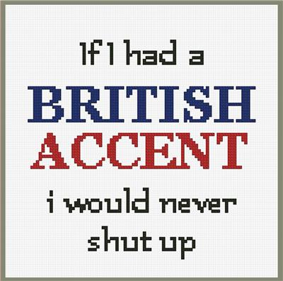click here to view larger image of British Accent (chart)