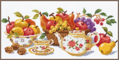 click here to view larger image of Afternoon Tea (counted cross stitch kit)