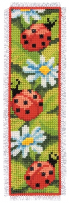 click here to view larger image of Bookmark - Ladybird (counted cross stitch kit)
