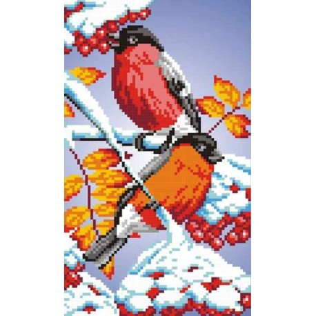 click here to view larger image of Bullfinches (counted cross stitch kit)