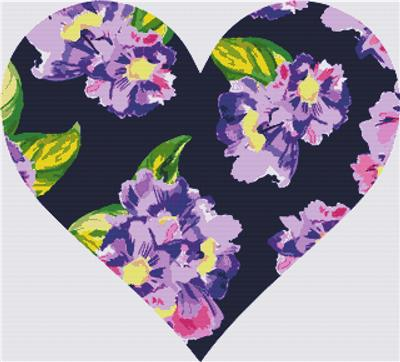 click here to view larger image of Watercolor Flower Heart (chart)