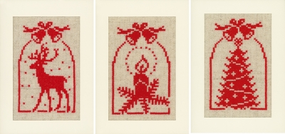 click here to view larger image of Jingle Bells - Greeting Card (3) (counted cross stitch kit)