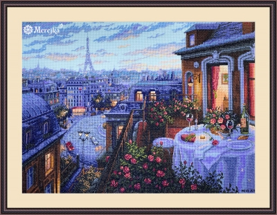click here to view larger image of Paris Evening Deja Vu (counted cross stitch kit)