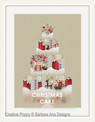 click here to view larger image of Christmas Cake (chart)