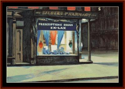 click here to view larger image of Drug Store - Edward Hopper (chart)