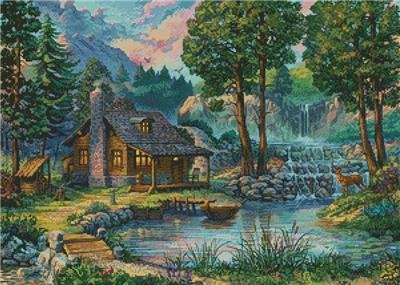 click here to view larger image of Country House by the Lake (chart)