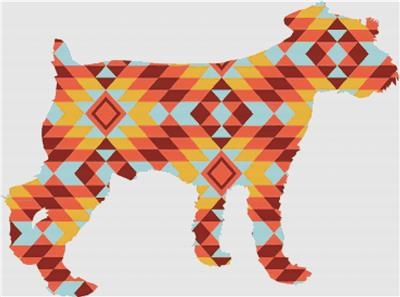 click here to view larger image of Kilim Dog (chart)