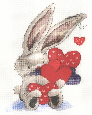 click here to view larger image of Whole Lot of Love - Bebunni (counted cross stitch kit)