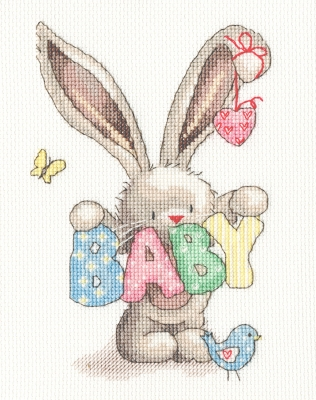 click here to view larger image of Baby - Bebunni (counted cross stitch kit)