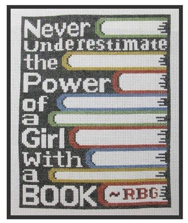 click here to view larger image of Girl with a Book (chart)