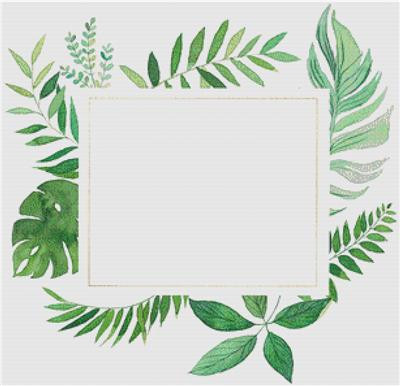 click here to view larger image of Tropical Green Frame (counted cross stitch kit)