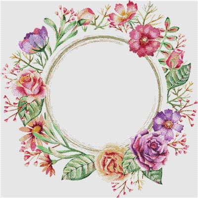 click here to view larger image of Summer Watercolour Frame (counted cross stitch kit)