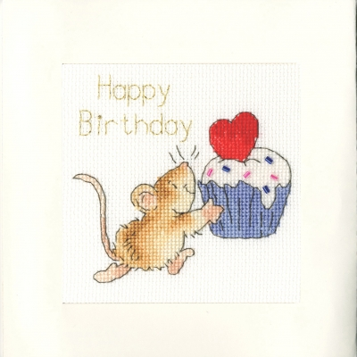 click here to view larger image of Sprinkles on Top - Greeting Card (counted cross stitch kit)