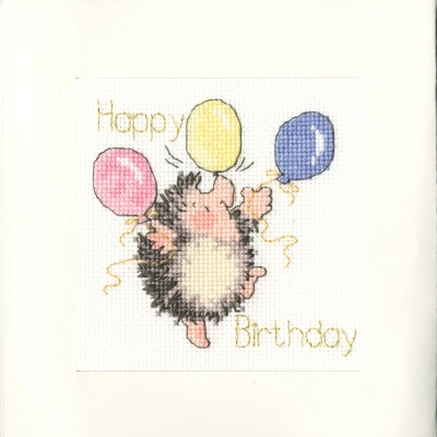 click here to view larger image of Birthday Balloons - Greeting Card (counted cross stitch kit)