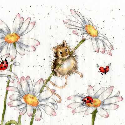 click here to view larger image of Daisy Mouse - Hannah Dale (counted cross stitch kit)