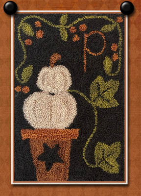 click here to view larger image of P Is For Pumpkin (Punchneedle)