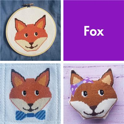 click here to view larger image of Animal Faces - Fox (chart)
