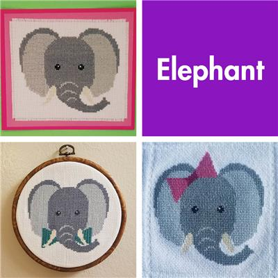 click here to view larger image of Animal Faces - Elephant  (chart)