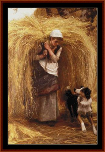 click here to view larger image of Returning from the Hayfield - Arthur Hacker (chart)