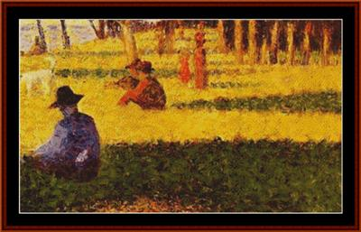 click here to view larger image of La Grand Jatte – Seurat (chart)