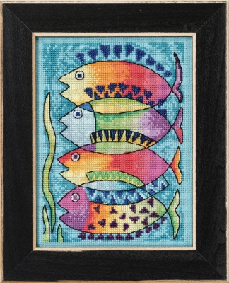 click here to view larger image of Peces (counted cross stitch kit)