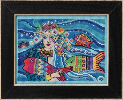 click here to view larger image of Ocean Goddess (counted cross stitch kit)