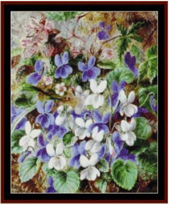 click here to view larger image of Wild Violets - Durer (chart)