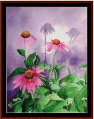 click here to view larger image of Coneflower - Floral (chart)