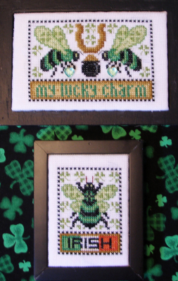 click here to view larger image of Bee My Lucky Charm - Love Bits (chart)