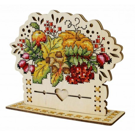 click here to view larger image of Autumn Bouquet (counted cross stitch kit)