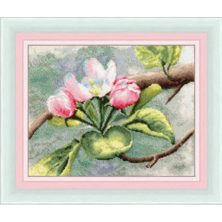 click here to view larger image of Apple Tree Blossoms (counted cross stitch kit)