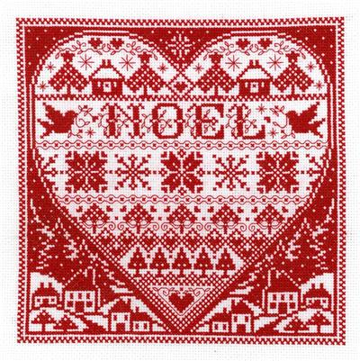 click here to view larger image of Redwork Noel - Joan Elliot (counted cross stitch kit)