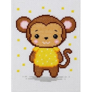 click here to view larger image of Monkey - 0237 (counted cross stitch kit)
