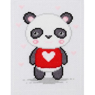 click here to view larger image of Panda - 0230 (counted cross stitch kit)