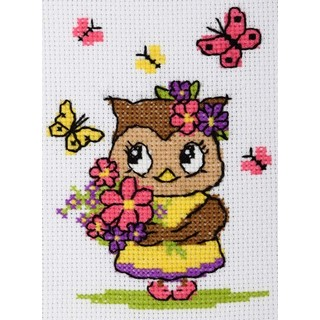 click here to view larger image of Owl - 0211 (counted cross stitch kit)