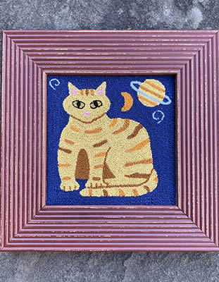 click here to view larger image of Cosmic Cat (Punchneedle)