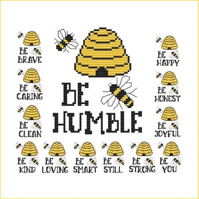 click here to view larger image of Be Humble (Beehive Bees Sayings) (chart)
