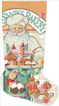click here to view larger image of Baker Santa Stocking (chart)