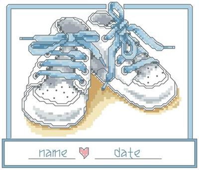 click here to view larger image of Baby Boy Shoes (chart)