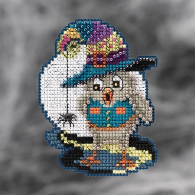 click here to view larger image of  Halloween Owl (2021) (counted cross stitch kit)
