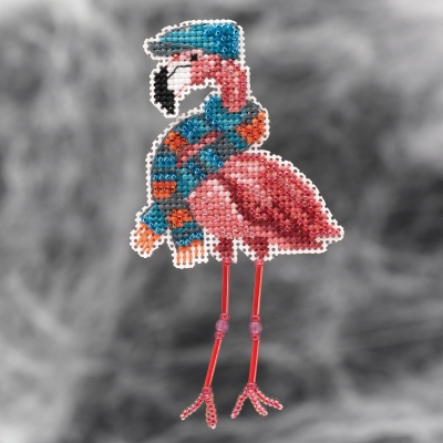 click here to view larger image of Fall Flamingo (2021) (counted cross stitch kit)