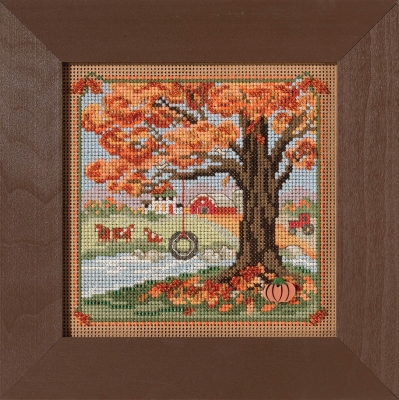 click here to view larger image of Autumn Swing Country Lane (2021) (counted cross stitch kit)