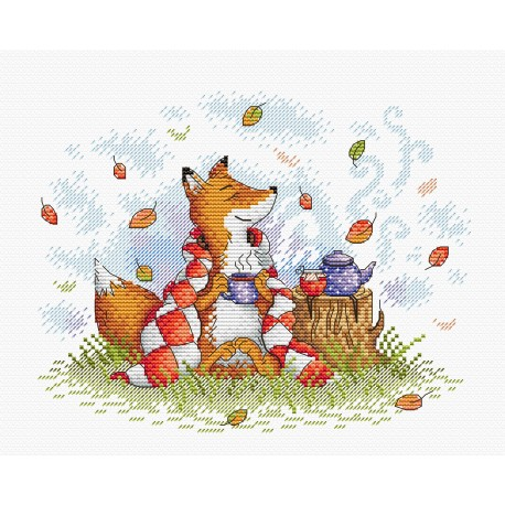 click here to view larger image of Autumn Tea (counted cross stitch kit)