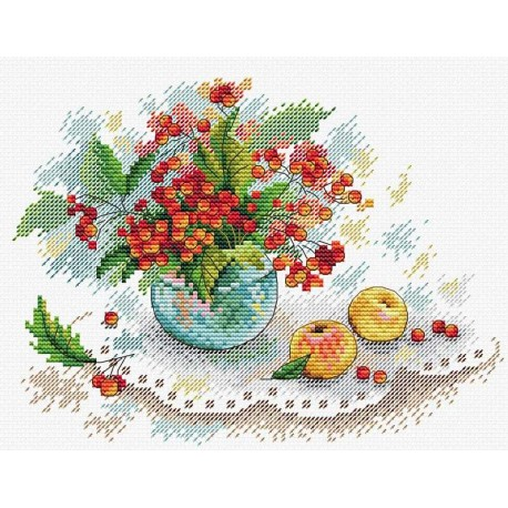 click here to view larger image of Autumn Still Life (counted cross stitch kit)