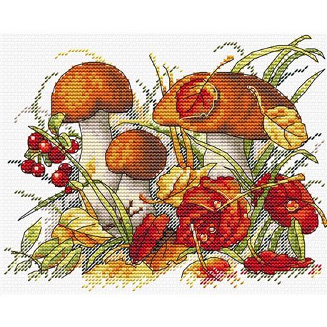 click here to view larger image of Autumn Forest Treasures (counted cross stitch kit)