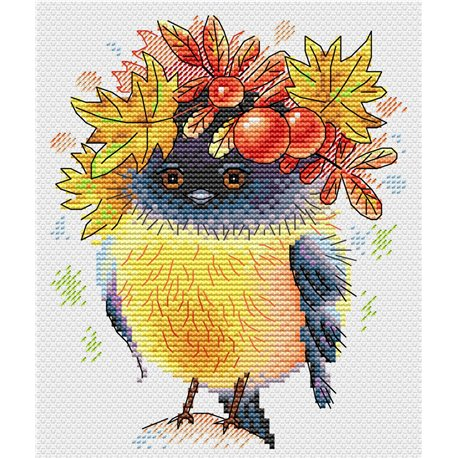 click here to view larger image of Autumn Bird (counted cross stitch kit)