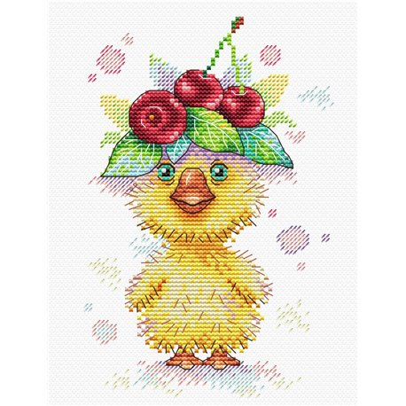 click here to view larger image of Adventurous Cherry (counted cross stitch kit)