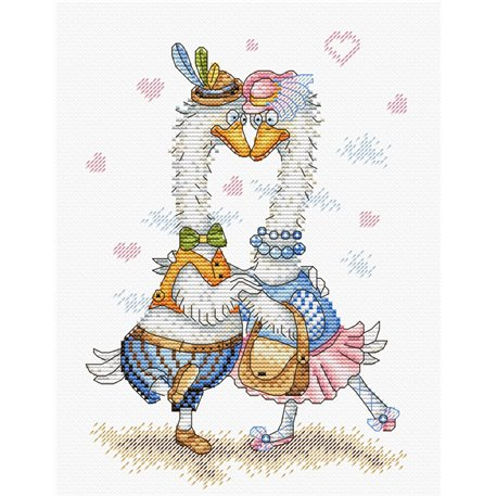 click here to view larger image of 2 Ducks (counted cross stitch kit)