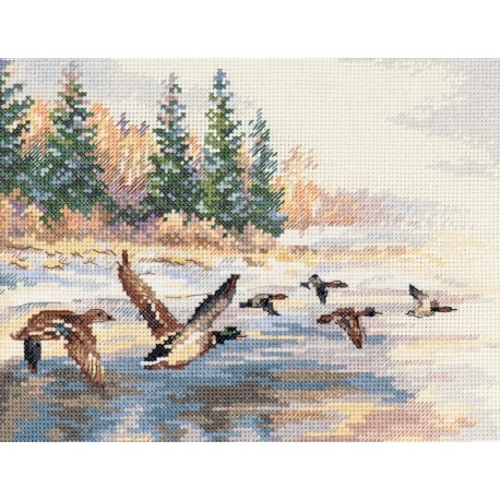 click here to view larger image of Flying Ducks (counted cross stitch kit)